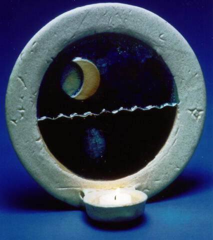 Moon Over Spirit Lake wall sconce